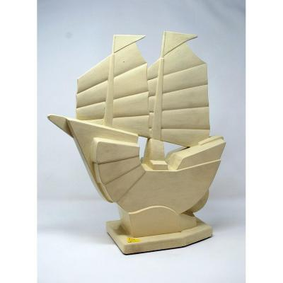 Art Deco Boat By J.de Mey