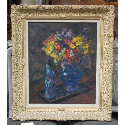 Fernand Willy, Belgian School (1886-1964) Oil On Canvas