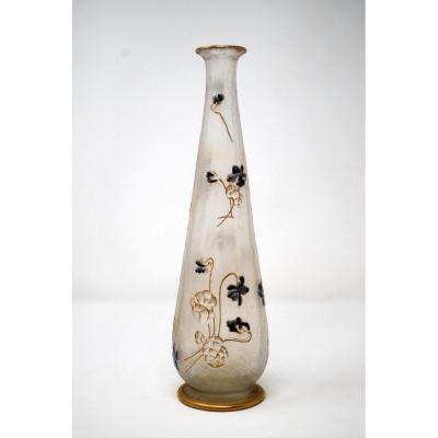 Vase With Violets, Legras Montjoye