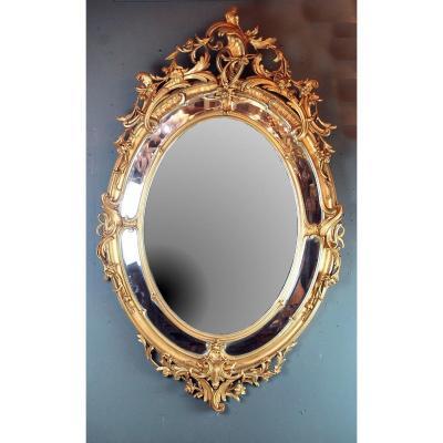 Grand Miroir De Style Louis XV