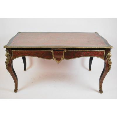 Napoleon III Desk In Boulle Marquetry