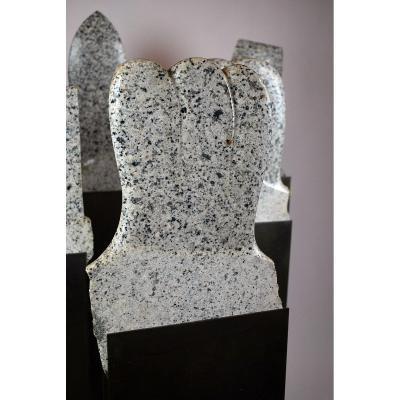 Harada Tetsuo, Suite Of 6 Granite Sculptures