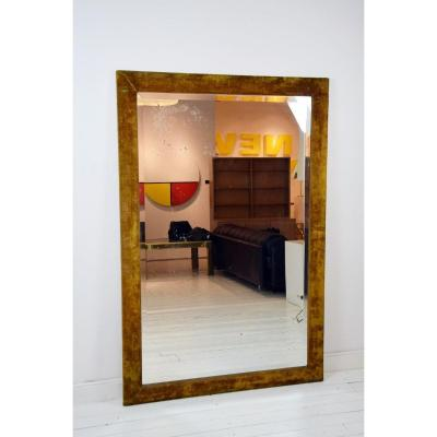 Velvet Frame Mirror, Beveled Ice