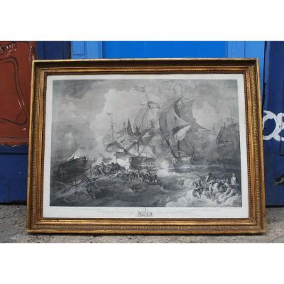 """""""La victoire de Lord Howe 1794"""" par James Fittler"""