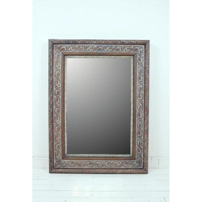 Miroir En Chêne Cérusé