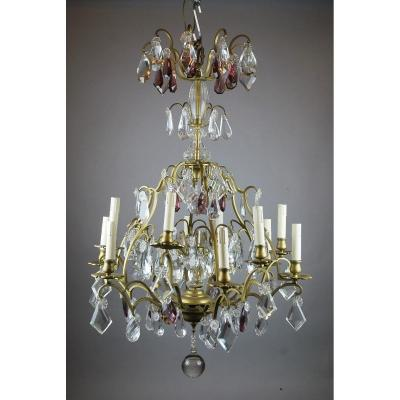 Tassel Chandelier With 12 Arms Of Lights