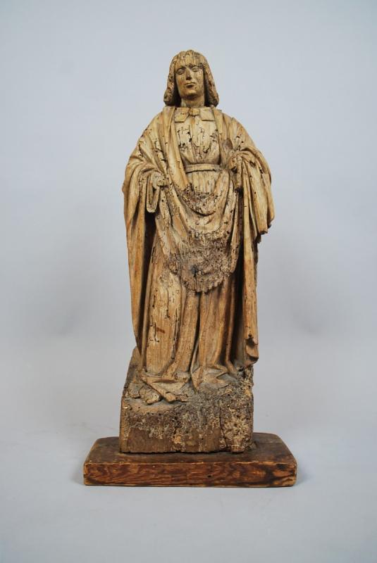 """""""Saint"""" Sculpture en bois 18th-photo-2"""