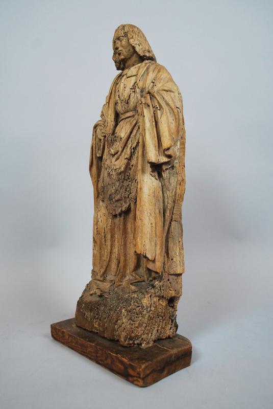 """""""Saint"""" Sculpture en bois 18th-photo-3"""