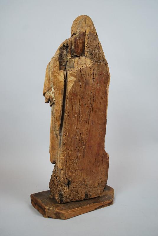 """""""Saint"""" Sculpture en bois 18th-photo-4"""