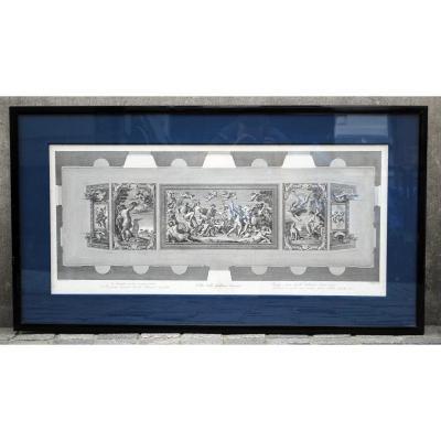 Gravure Des Fresques De La Galerie Farnèse