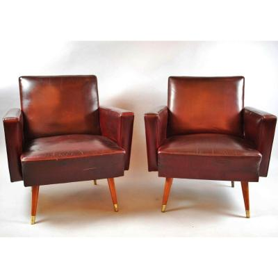 Pair Of Hungarian Armchairs, 1940
