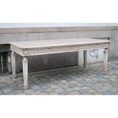 Table Néoclassique En Bois Cérusé