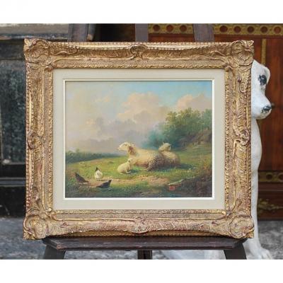 Tableau Moutons Et Poules