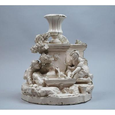 Earthenware Group, France, Late 18th Century