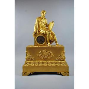 Grande Pendule En Bronze Doré