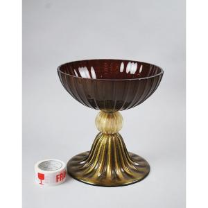 Seguso For Murano, Large Bowl On Foot