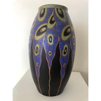 Vase Art Deco Boch Keramis Catteau