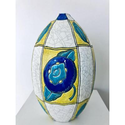 Vase Art Deco Boch Keramis ' La Maitrise ´