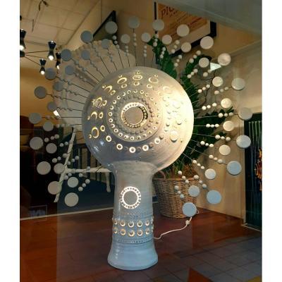 Rare Lampe Soleil Georges Pelletier Signée