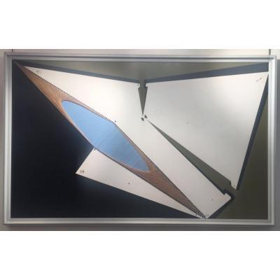 Tableau Paolo Galletti Circa 1973 Huile Sur Panneau