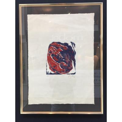 Gravure Originale Antoni Tapies Epreuve d'Artiste