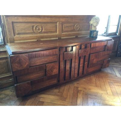 Enfilade Brutaliste Usa  Annees 70 Sideboard Furniture