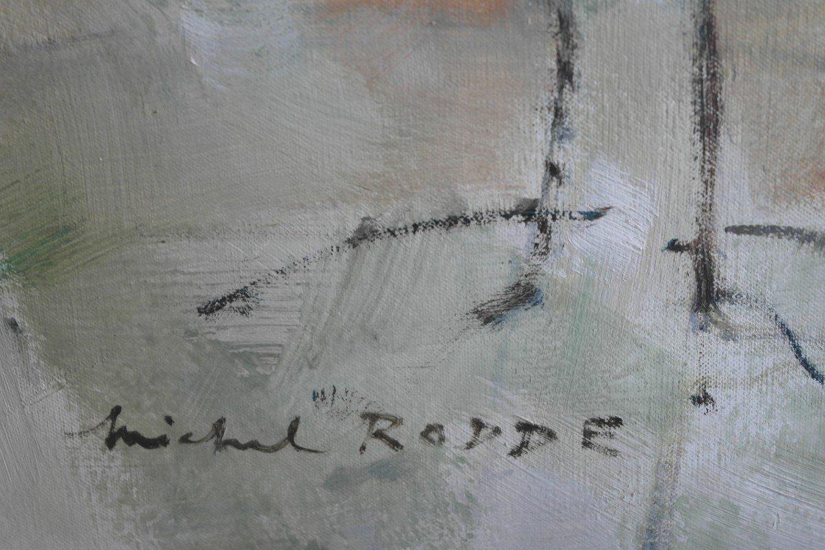 Tableau De Michel Rodde. Huile Sur Toile . Sbg.-photo-3