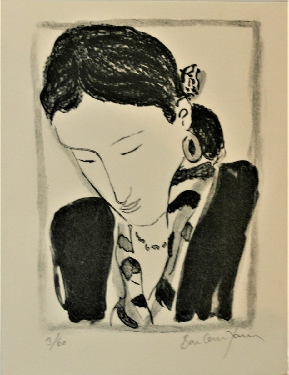 """Pierre Boncompain (1938) Lithograph """"greeting Card"""" .pv 134"""