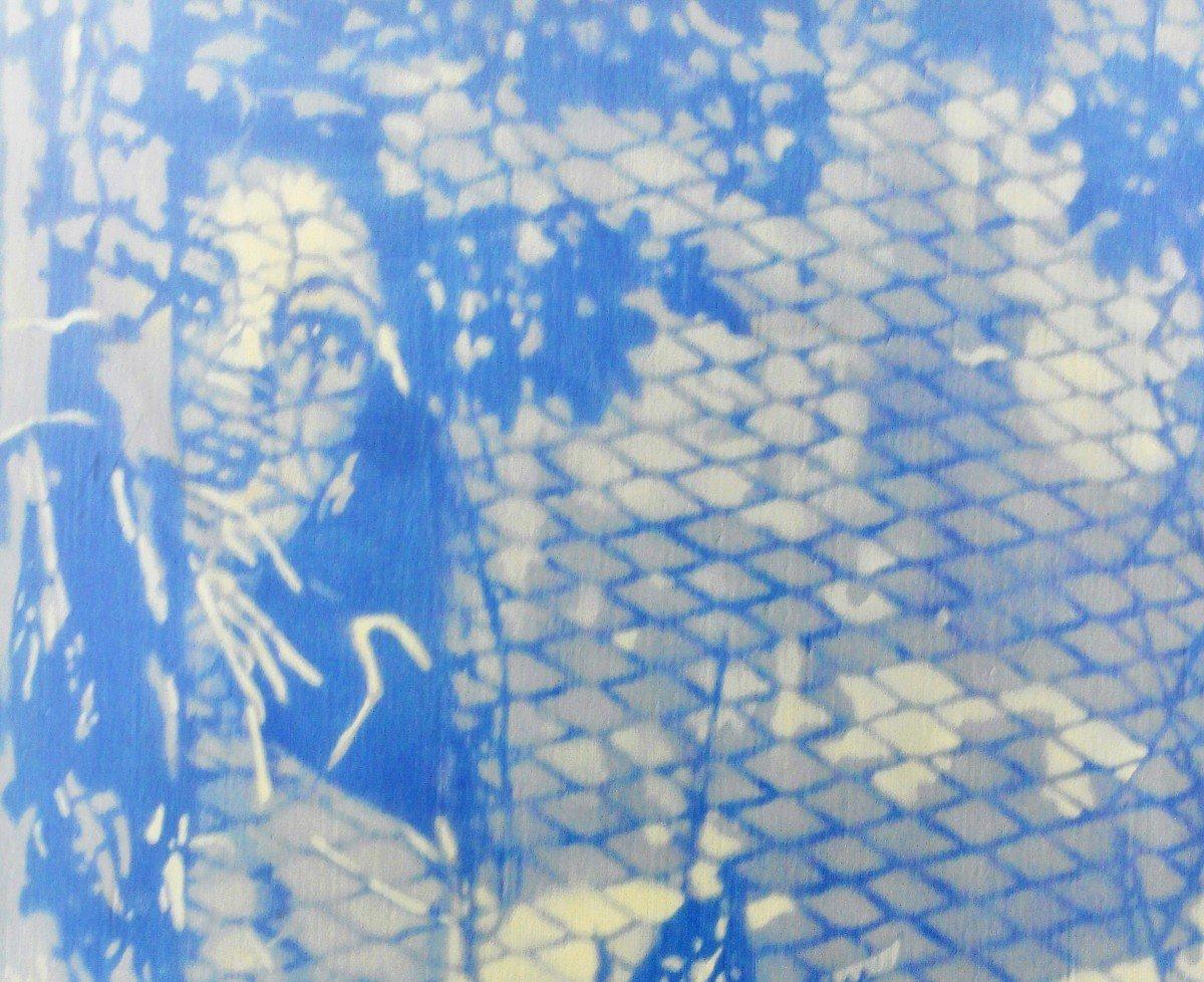 Tableau De Le Boul'ch. Acrylique Sur Toile. Sbg. V1438.-photo-2