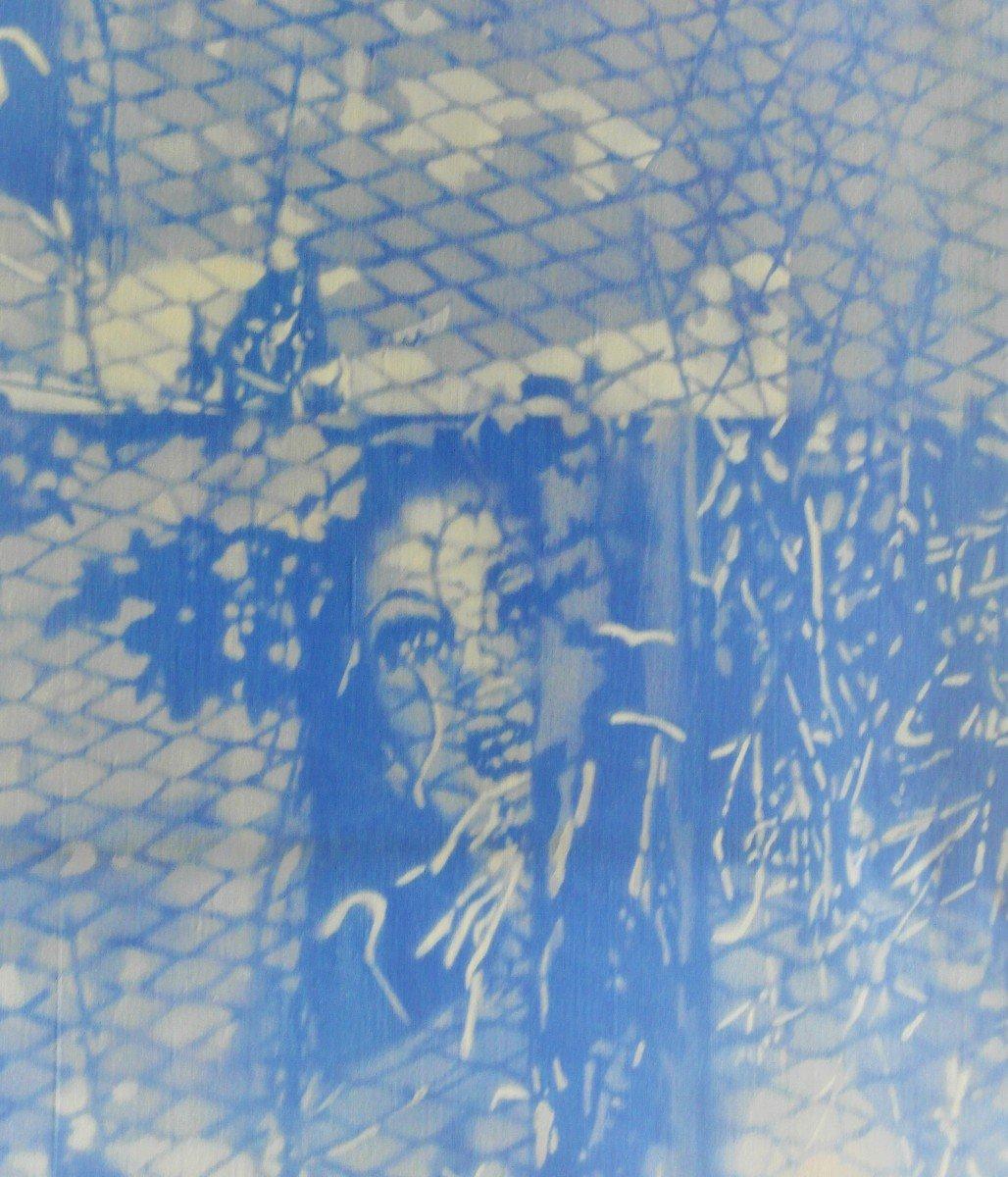Tableau De Le Boul'ch. Acrylique Sur Toile. Sbg. V1438.-photo-3