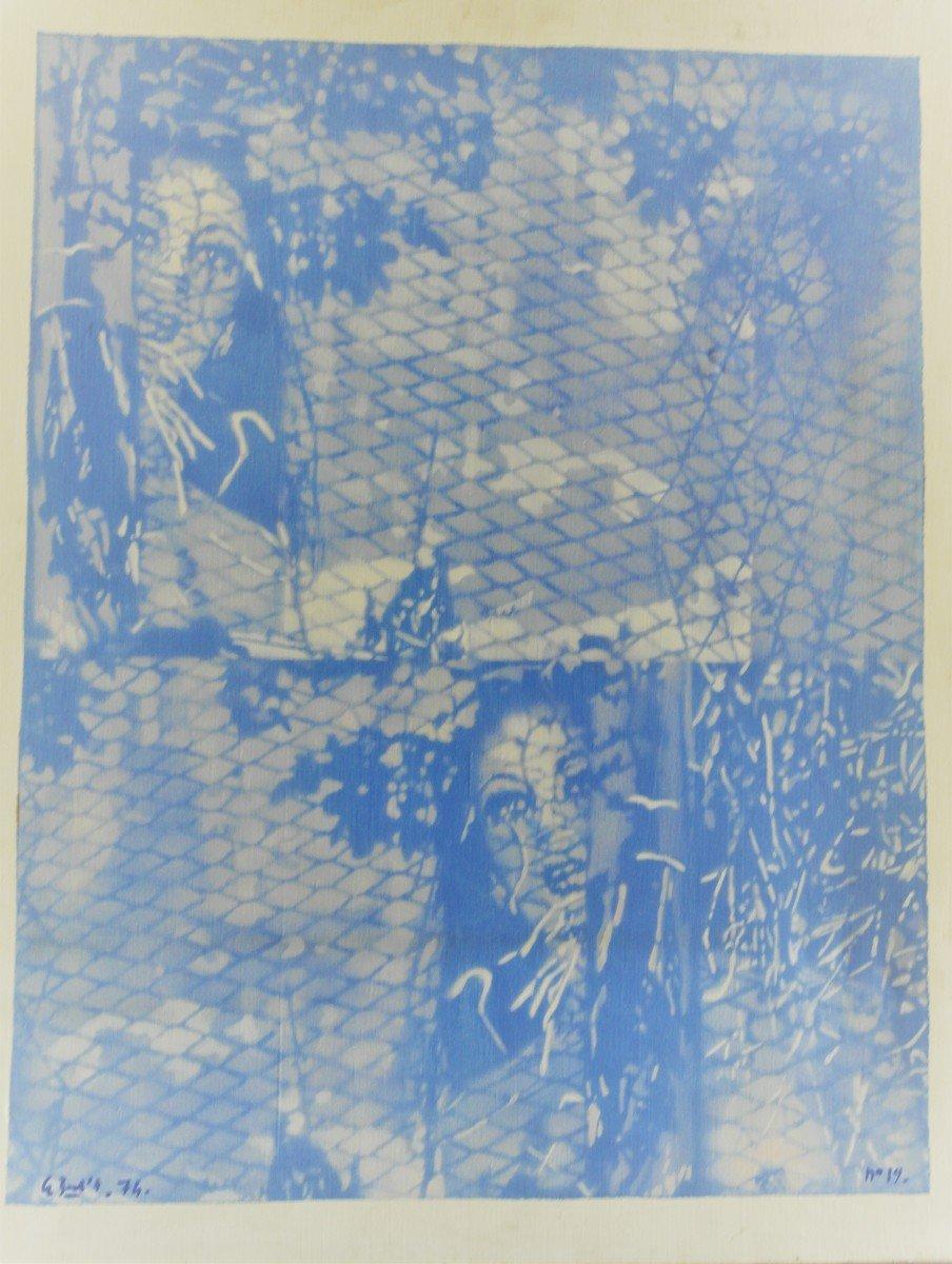 Table De Le Boul'ch. Acrylic On Canvas. Sbg. V1438.