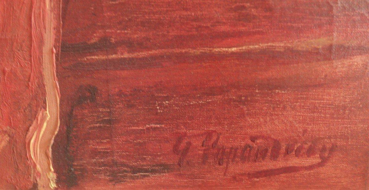 TABLEAU DE GEORGES PAPANDREOU. HUILE SUR TOILE. SBD. v1445.-photo-4