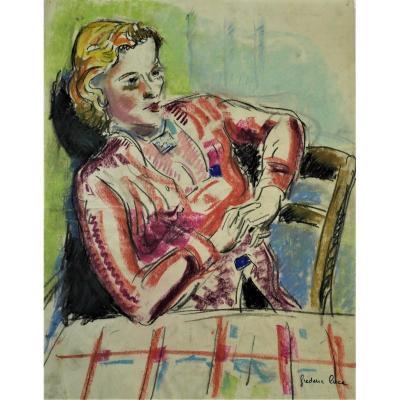 Frédérique Luce(1896-1974) . Pastel. Pv120