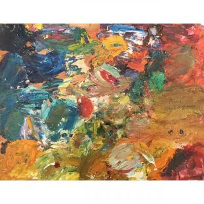 Pierre Ambrogiani (1907-1985) Huile sur bois. Palette d'artiste dble.face. v253