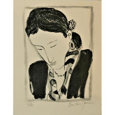"""Pierre BONCOMPAIN (1938) Lithographie """" Carte de voeux"""".pv 134"""