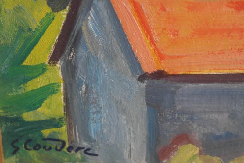 Tableau De Gabriel Couderc. Huile Sur Carton Signée En Bas à Gauche.v1423.-photo-2