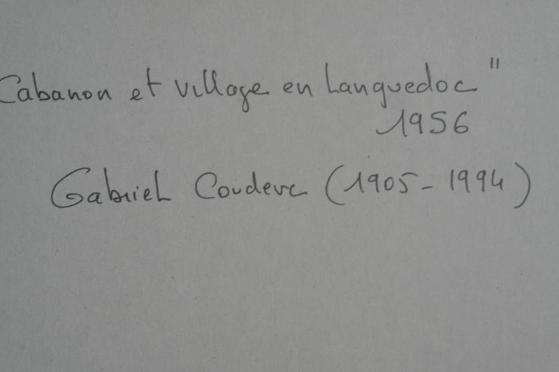 Tableau De Gabriel Couderc. Huile Sur Carton Signée En Bas à Gauche.v1423.-photo-3