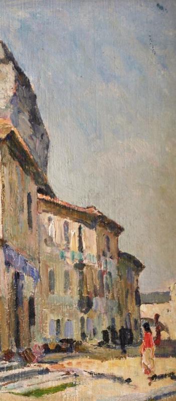Tableau De Jean Aubery. Maison Sous Le Rocher Des Doms. Avignon. Ht.sbg.v1429.-photo-2
