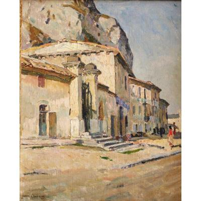 Tableau De Jean Aubery. Maison Sous Le Rocher Des Doms. Avignon. Ht.sbg.v1429.