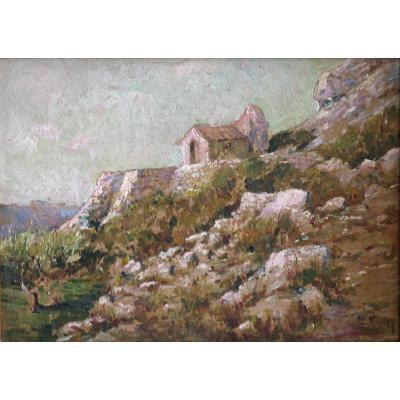 Tableau De Charles Vionnet. Huile Sur Carton.sbd.v1433.