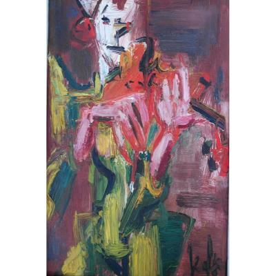 Painting Eugene Paul Dit Gen Paul (1895-1975) Sbd Hp V1467