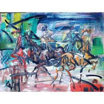 Painting Eugene Paul Dit Gen Paul (1895-1975) Sbg Ht V1470