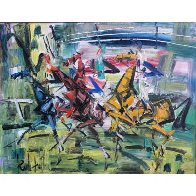 Painting Eugene Paul Dit Gen Paul (1895-1975) Sbg Ht V1471