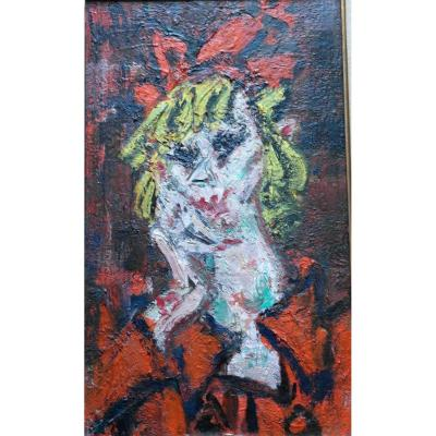 Painting Eugene Paul Dit Gen Paul (1895-1975) Sad Hp V1472