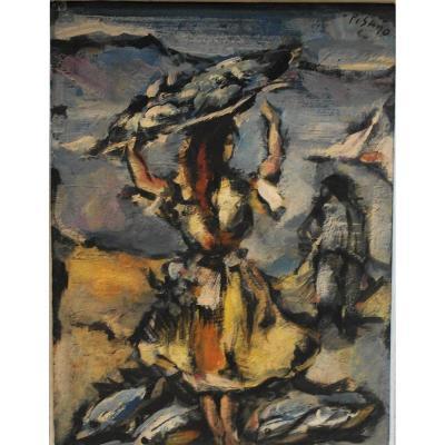 Table Edouardo Pisano Oil On Panel Shd V1492