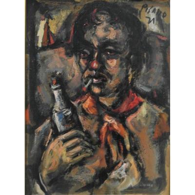 Table Edouardo Pisano Oil On Panel Shd V1493