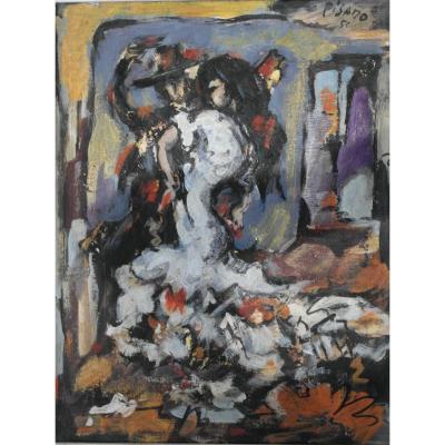 Table Edouardo Pisano Oil On Panel Shd V1494