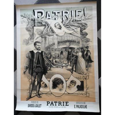 Patrie 1886 Poster.paul Jb Maurou. Printed By Mercier. Pv48 Bis.