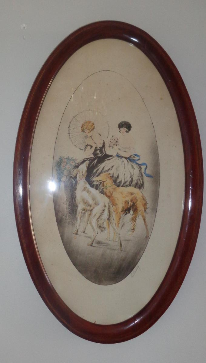 Drawing Watercolor Alfred Renaudin Dit E.naudy