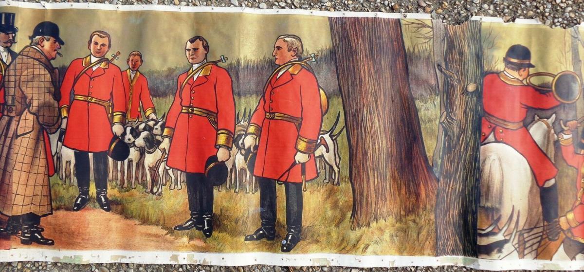 La chasse Affiche De Albert Guillaume LE RENDEZ VOUS 1911-photo-3